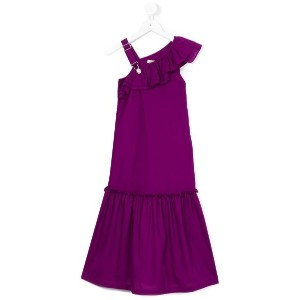 Jean Paul Gaultier - asymmetric ruffle dress - kids - コットン - 12歳