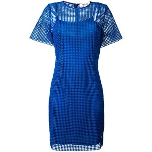 Diane Von Furstenberg - embroidered fitted dress - women - シルク/ポリエステル/ビスコース - 8