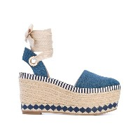 Tory Burch - espadrille wedges - women - コットン/レザー/rubber - 38