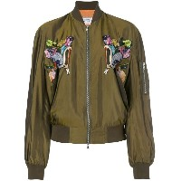 Forte Couture - bird embroidered bomber jacket - women - キュプロ - 40