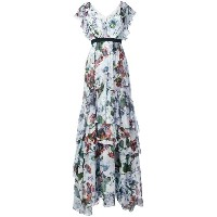 Erdem - long tiered ruffle dress - women - シルク - 12