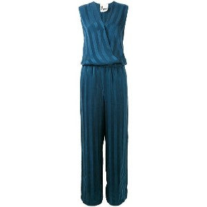 8pm - striped jumpsuit - women - キュプロ - S