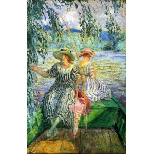 油絵 Henri Lebasque_ 釣り