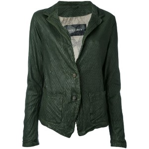 Giorgio Brato - two button jacket - women - レザー/ナイロン/コットン - 44
