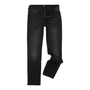 リー メンズ ボトムス ジーンズ【Lee Rider Slim Fit Jeans】Washed Black