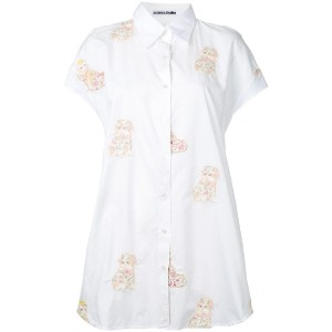 Mikio Sakabe - embroidered cat shirt - women - コットン - M