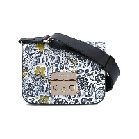 Furla - embroidered shoulder bag - women - レザー - ワンサイズ