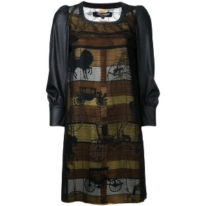 Junya Watanabe Comme Des Garçons - horse carriage panel dress - women - ポリエステル - S