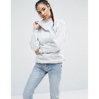 アディダス レディース パーカ&スウェット アウター adidas Originals Nyc Grey High Neck Trefoil Sweatshirt Light grey heather