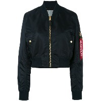 Alpha Industries - cropped bomber jacket - women - ナイロン - S