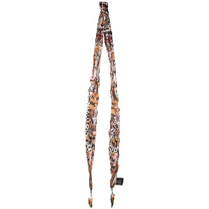 Roberto Cavalli - feather-trimmed printed scarf - women - シルク/ルースター羽毛 - ワンサイズ