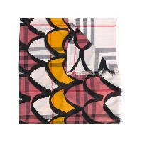 Burberry - decorative check scarf - women - シルク/ウール - ワンサイズ