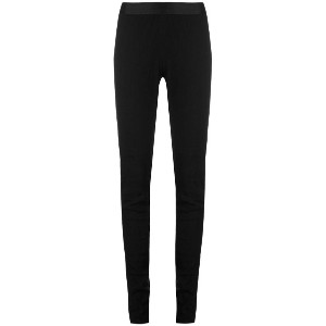 Ann Demeulemeester - satin waistband leggings - women - リネン/スパンデックス/レーヨン - 38