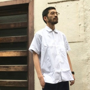 INDIVIDUALIZED SHIRTS WhiteHeadEagle 別注 S/S OPEN COLLAR SHIRT