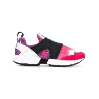 Ea7 Emporio Armani - pull on print trainers - women - レザー/ナイロン/ポリエステル/rubber - 5.5