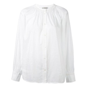 Vince - collarless smock shirt - women - コットン - S