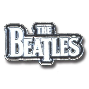 The Beatles Large Drop T Logo ホワイト 新しい 公式 Metal Pin badge