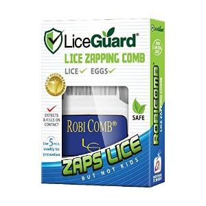 LiceGuard 電動アタマジラミ駆除梳き櫛Robi Comb 「Electronic Lice Comb to Detect & Kill Lice」