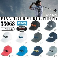 【PING TOUR STRUCTURED】ピン キャップ 33068 (サイズ XL56-58cm)