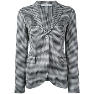 Harris Wharf London - houndstooth pattern blazer - women - コットン - 46