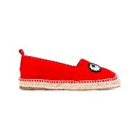 Anya Hindmarch - embellished eye espadrilles - women - ラフィア/ゴートスキン/レザー - 40