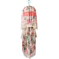 Roberto Cavalli - floral shift maxi dress - women - シルク/ポリアミド - 42