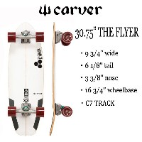 "CARVER SKATEBOARD,カーバースケートボード/30.75""THE FLYER/C7 TRACK/フライヤー/CHANNEL ISLANDS・アルメリックコラボ/サーフスケート 【あす楽..."