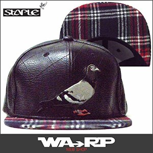 ステイプル STAPLE FLANNEL PIGEON SNAPBACK(BLACK)
