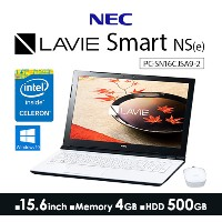 LAVIE Smart NS(e) PC-SN16CJSA9-2 [エクストラホワイト] Windows10・Office2016 Home Business Premium・Celeronデュ