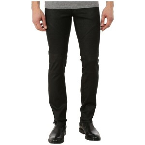 ヴェルサーチ Versace Collection メンズ ボトムス ジーンズ【Wax Coated Slim Fit Moto Denim】Black