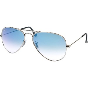 レイバン Ray Ban サングラス RB3025 003/3F AVIATOR LARGE METAL SILVERLIGHT BLUE GRADIENT