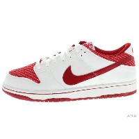 【26.5cm】WMNS NIKE DUNK LOW 309324-166 white/varsity red ナイキ ダンク 未使用品【中古】