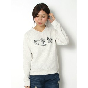 【70%OFF】【SALE/70%OFF】AS KNOW AS PINKY おえかき&ロゴPO アズノゥアズ カットソー【RBA_S】【RBA_E】