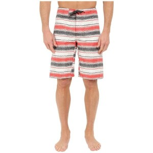 コロンビア Columbia メンズ 水着 ボトムのみ【Coast On By Boardshorts】Sunset Red Burley Stripe