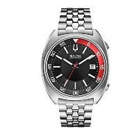 ブローバ Bulova Accutron II Black and Red Dial Stainless Steel Quartz Men's Watch 96B210 [並行輸入品]