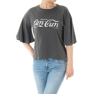 【AZUL by moussy】Can-Cun LOGO TEE AZUL by moussy / アズール バイ マウジー【MARKDOWN】