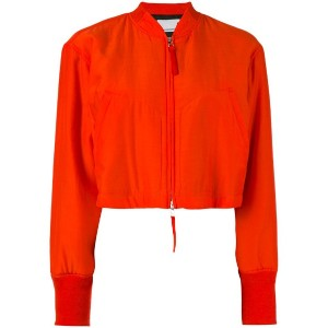 Alexander Wang - cropped bomber jacket - women - シルク/コットン/ポリエステル - 2