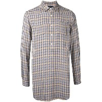 Undercover - checked longline shirt - men - レーヨン - 2