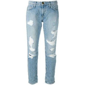 Current/Elliott - cropped distressed jeans - women - コットン - 31