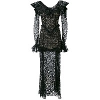 Alessandra Rich - long-sleeved lace gown - women - シルク/コットン/ポリアミド - 44
