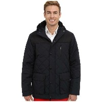アイゾッド IZOD メンズ アウター コート【Two-Tone Puffer With Hood】Black/Midnight