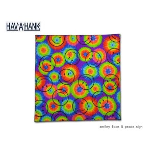 【HAV-A-HANK】-ハバハンク-smiley face & peace sign レトロシリーズ・バンダナ