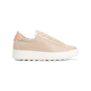Philippe Model - perforated decoration sneakers - women - コットン/カーフレザー/レザー/rubber - 38