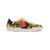 Gucci - 'Ace' floral-embroidered sneakers - women - レザー/エナメルレザー/rubber - 40