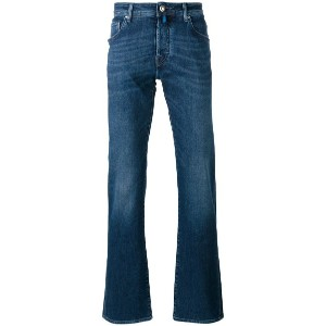 Jacob Cohen - stonewashed straight-leg jeans - men - コットン/スパンデックス - 32