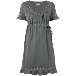 Fay - drawstring eyelet dress - women - コットン/スパンデックス - XL