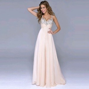 Sexy Party Dress Elegant Chiffon Strap V-Neck Sequins High Waist Maxi Party Evening Ladies Dresses R