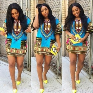 Men Women Dashiki African Festival Hippie Tribal Blouse Shirt Kaftan T-Shirt