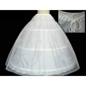 The Spot Hot sale 50% off 3 HOOP Ball Gown BONE FULL CRINOLINE PETTICOAT WEDDING SKIRT SLIP NEW (Siz
