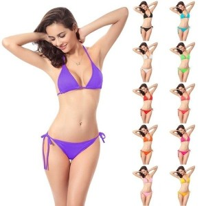 2016 Hot Women s Bikini Push-up Bra Swimsuit Bathing Suit Swimwear Set One Size Fits S-XXL